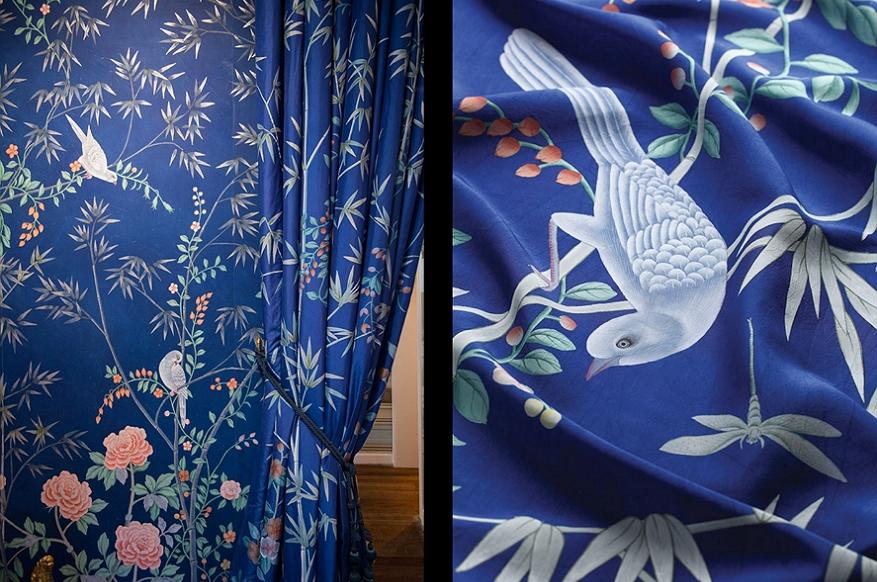 záclony a textílie De Gournay